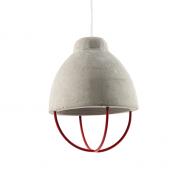 Hanglamp beton rekje rood