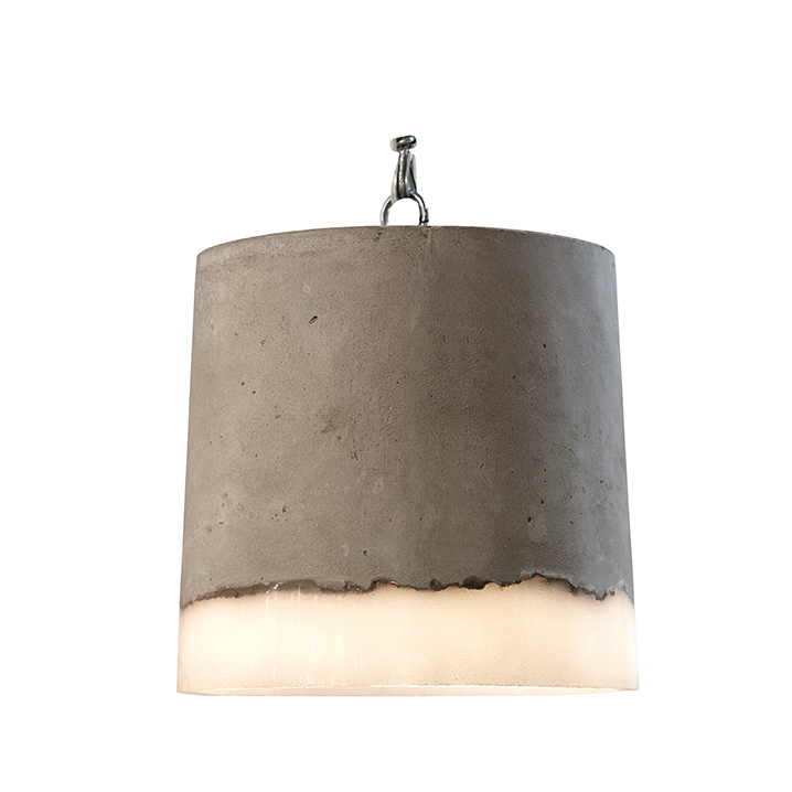Hanglamp beton rond groot